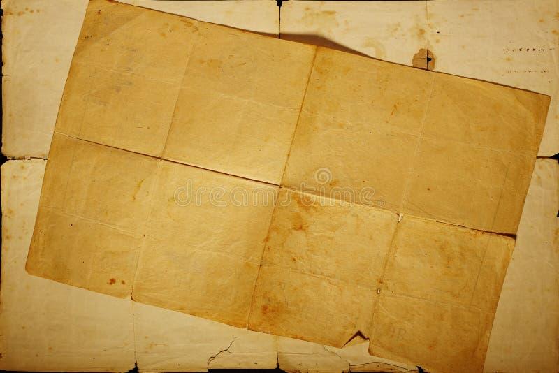 Textuur oud wijnoogst vergeeld document royalty-vrije stock afbeelding