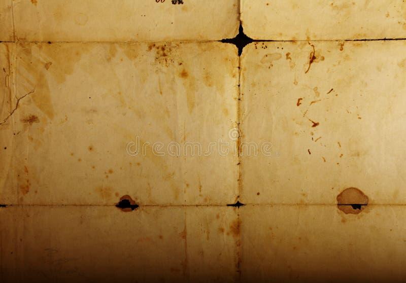 Textuur oud wijnoogst vergeeld document, documenten stock fotografie
