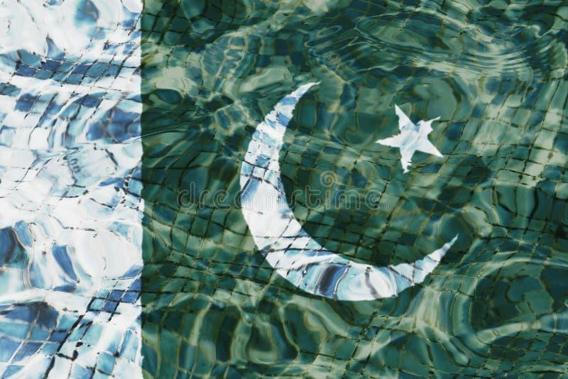 Textuur Pakistan en PrÃncipe-vlag royalty-vrije illustratie