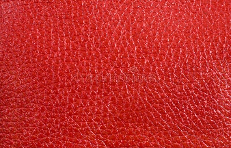 Textuur - rood leer stock foto's