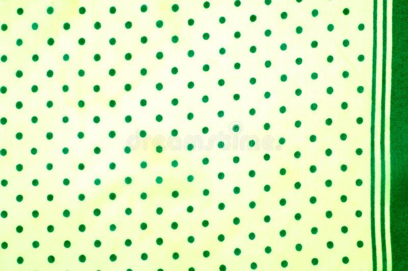 Textuur Tekening Achtergrond de zijdestof is groen, polka dit stock afbeelding