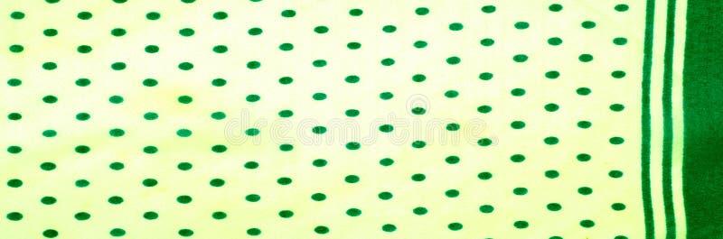 Textuur Tekening Achtergrond de zijdestof is groen, polka dit royalty-vrije stock afbeelding