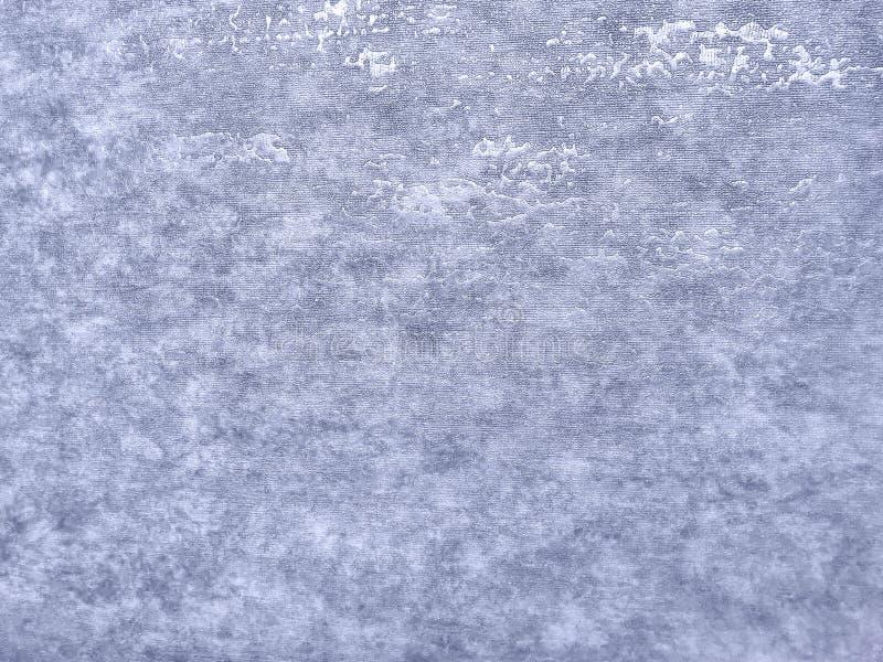 Textuur van blauw behang met een patroon Zilveren document oppervlakte, structuurclose-up stock afbeelding