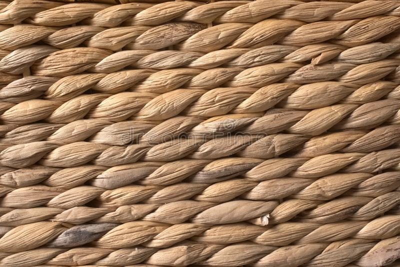 textuur van bruine rotan stock foto