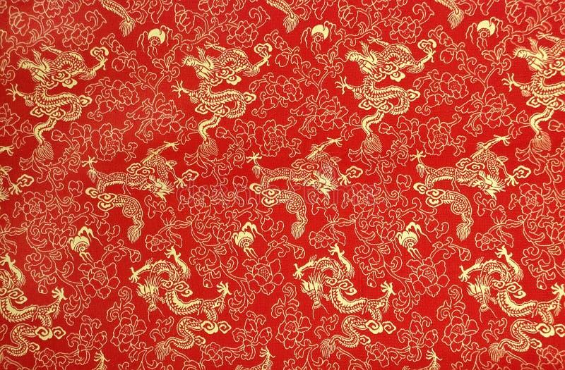 Textuur van Chinese zijde royalty-vrije stock foto's