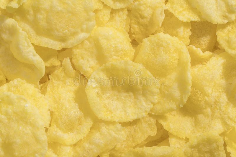 Textuur van Cornflakes stock foto's