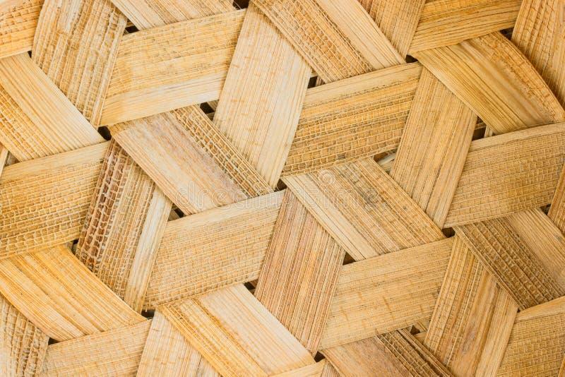 Textuur van de achtergrond van de rotanmand Oude de textuurbedelaars van het bamboeweefsel stock foto's