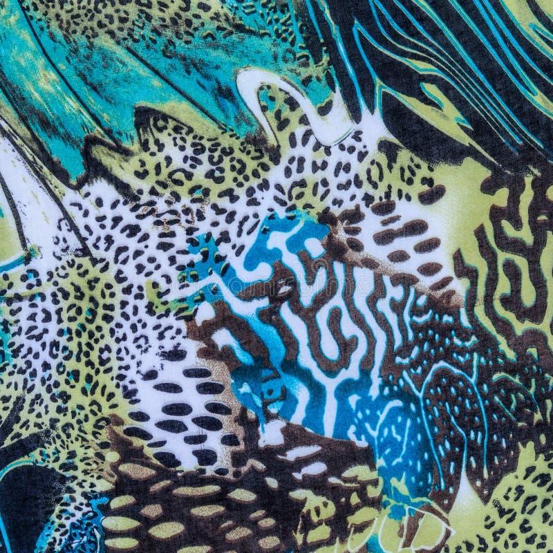 Textuur van de gestreepte luipaard van de drukstof royalty-vrije stock afbeeldingen