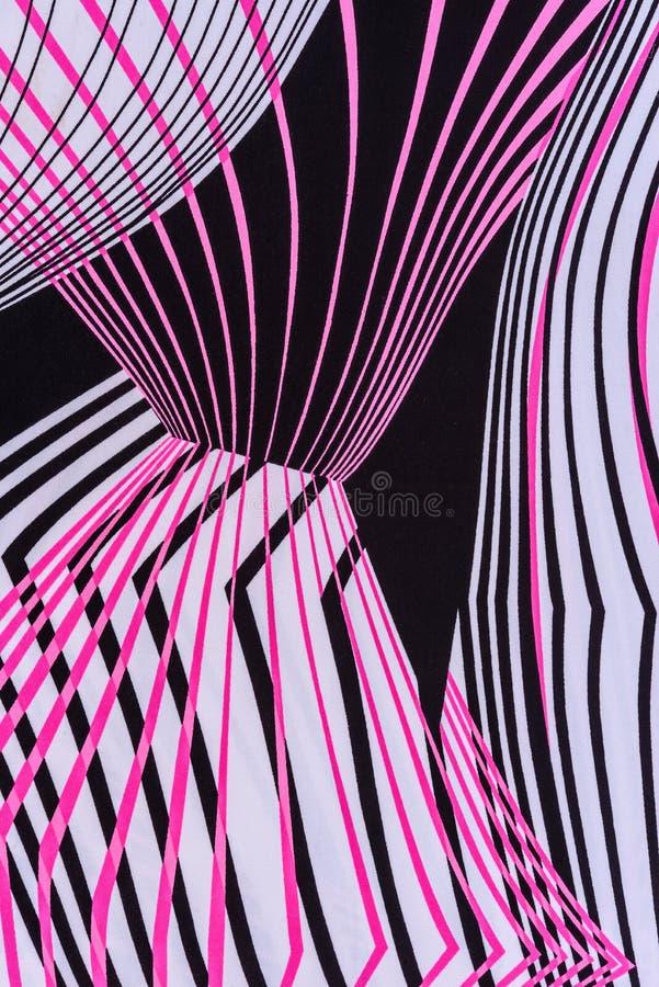 Textuur van de gestreepte samenvatting van de drukstof stock afbeeldingen