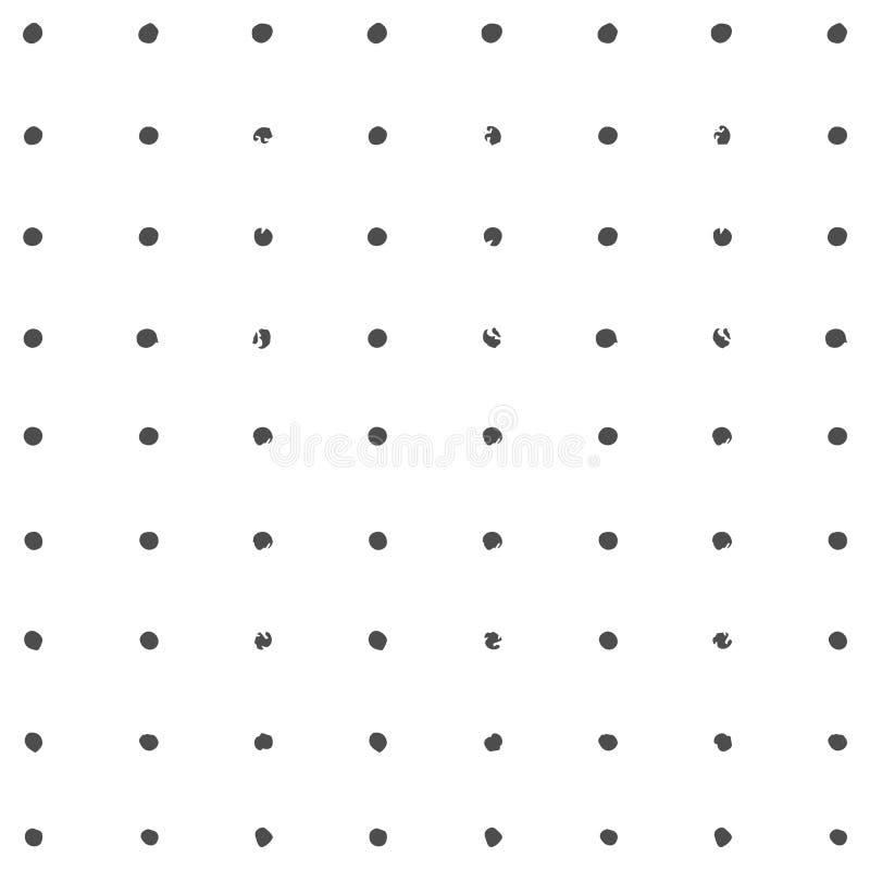 Textuur van de Grunge de Zwart-witte Nood royalty-vrije illustratie