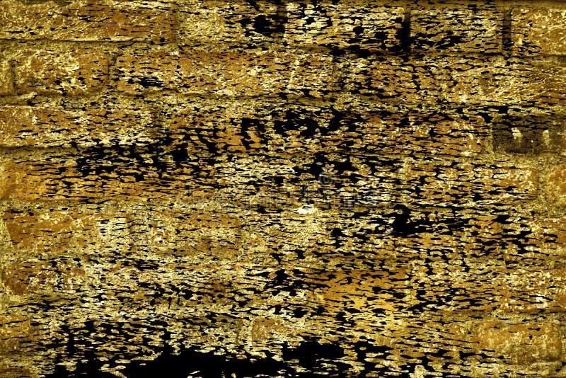 Textuur van de Grunge de ultra gele bakstenen muur, cementachtergrond voor website of mobiele apparaten stock fotografie
