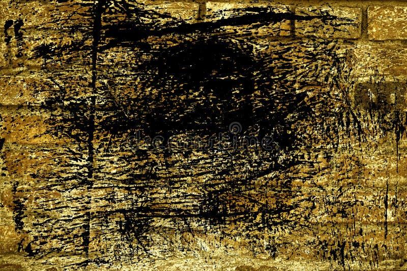 Textuur van de Grunge de ultra gele bakstenen muur, cementachtergrond voor website of mobiele apparaten stock afbeelding