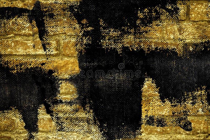 Textuur van de Grunge de ultra gele bakstenen muur, cementachtergrond voor website of mobiele apparaten royalty-vrije stock afbeeldingen
