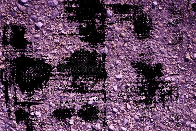 Textuur van de Grunge de ultra purpere Grond, zandoppervlakte, steenachtergrond, goed voor ontwerpelement royalty-vrije stock fotografie