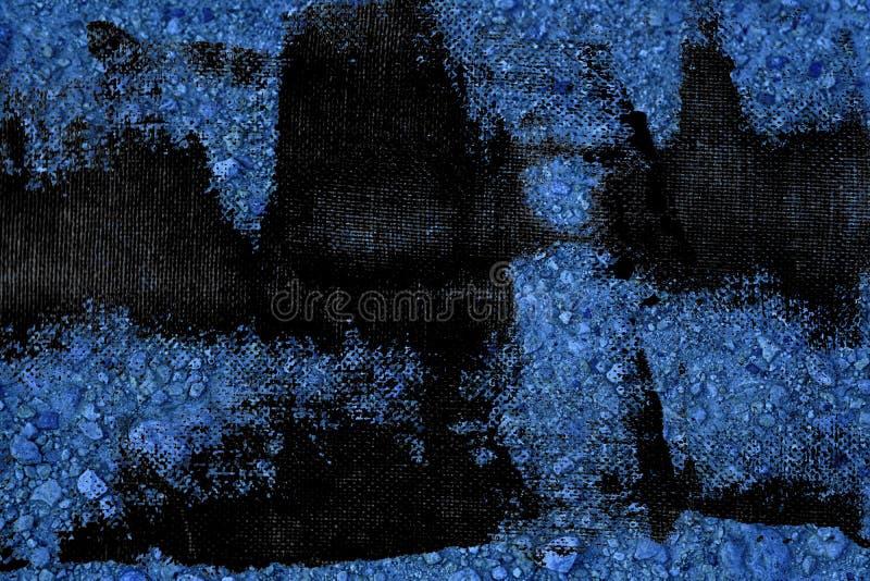 Textuur van de Grunge de vuile ultra blauwe Grond, zandoppervlakte, steenachtergrond stock fotografie