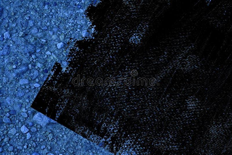 Textuur van de Grunge de vuile ultra blauwe Grond, zandoppervlakte, steenachtergrond stock afbeelding