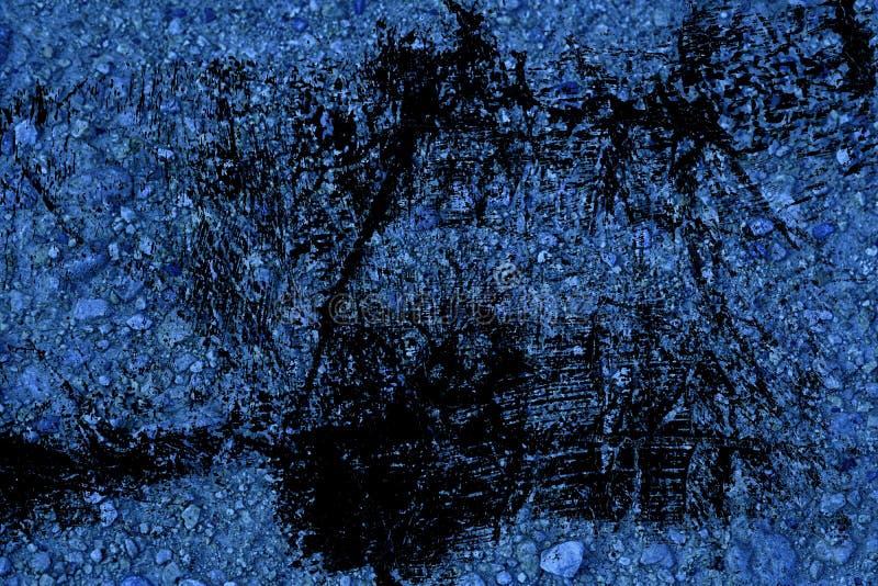 Textuur van de Grunge de vuile ultra blauwe Grond, zandoppervlakte, steenachtergrond stock foto's