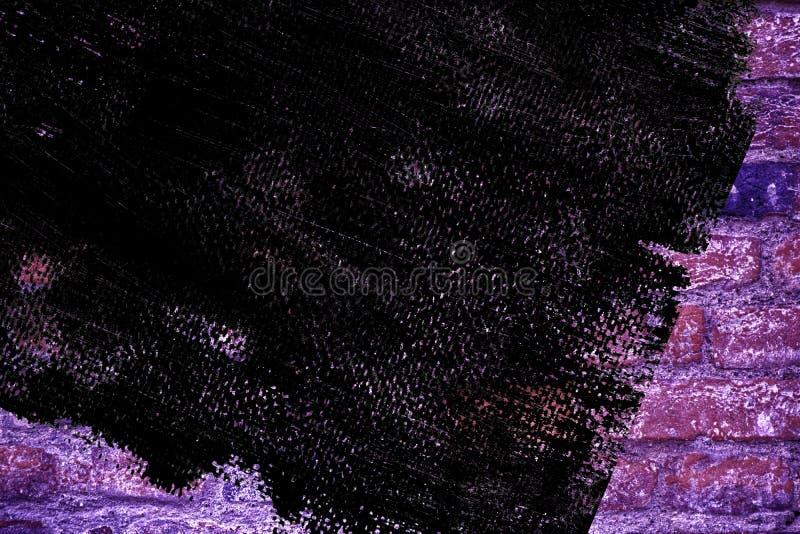 Textuur van de Grunge de vuile ultra purpere bakstenen muur, cementachtergrond voor website of mobiele apparaten royalty-vrije stock foto's