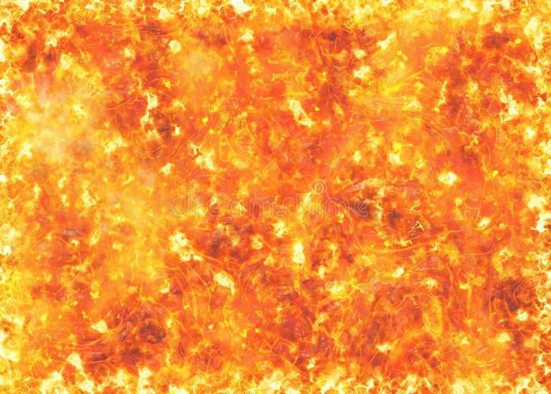 Textuur van de hitte de rode lava van uitbarstingsvulkaan stock illustratie