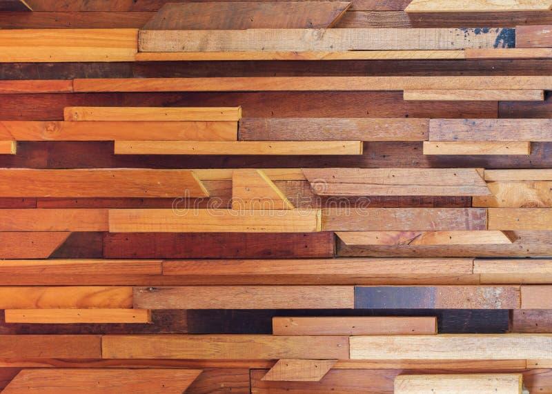 Textuur van de hout de houten bruine stok gebruikte muur stock fotografie