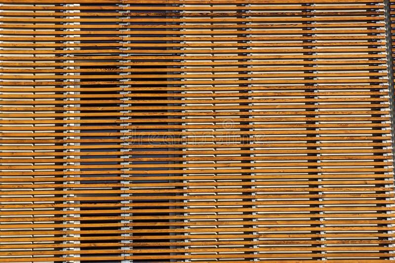 Textuur van de houten achtergrond van de latmuur stock afbeelding