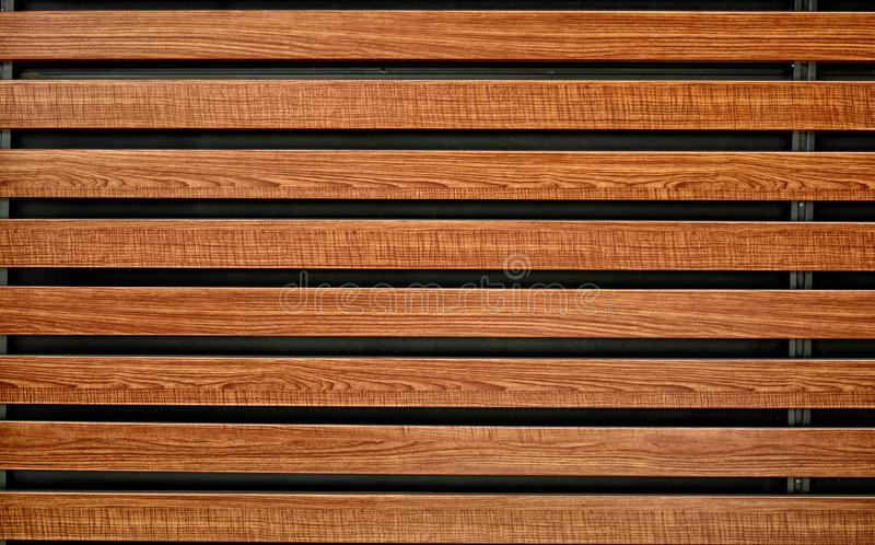 Textuur van de houten, houten raad Oude houten muur voor textuur en achtergrond Bruine houten omheiningspanelen Bruine achtergron stock foto