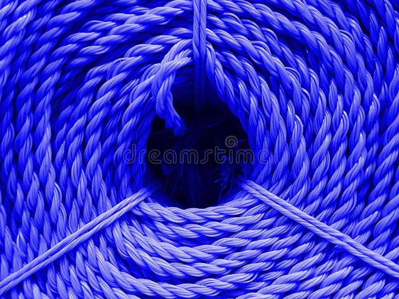 Textuur van de kleuren de nylon kabel royalty-vrije stock foto