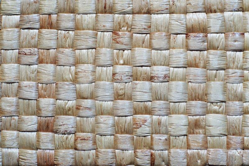 Textuur van de mand van de weefselrotan, patroon achtergrondconcept stock foto's