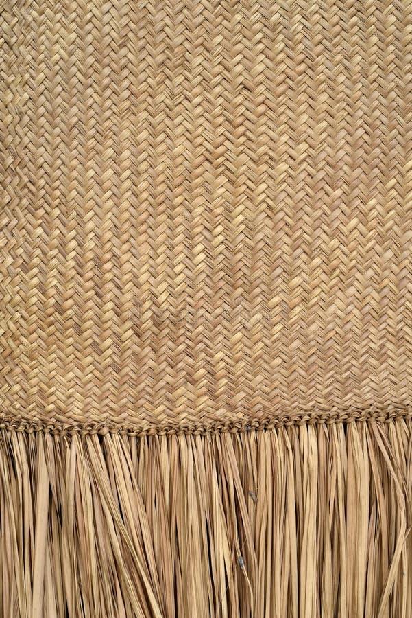 Textuur van de mat van het artezanalstro stock afbeeldingen