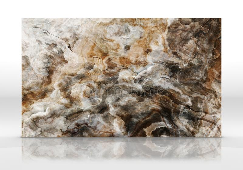 Textuur van de onyx de marmeren Tegel stock afbeelding