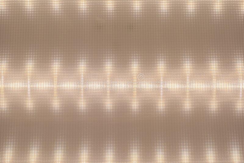 Textuur van de oppervlakteverspreider, LEIDEN Plafond Licht, licht patroon op deflecto royalty-vrije stock afbeeldingen
