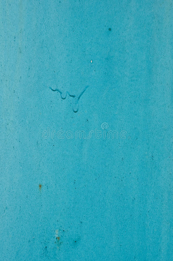 Textuur van de oude die muur, in blauwe verf wordt geschilderd royalty-vrije stock foto