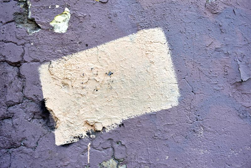 Textuur van de oude gebarsten muur royalty-vrije illustratie