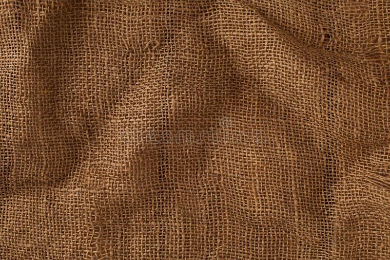 Textuur van de oude jute stock foto's