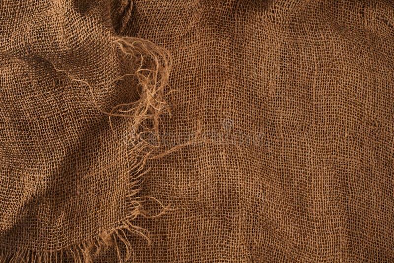 Textuur van de oude jute royalty-vrije stock afbeelding