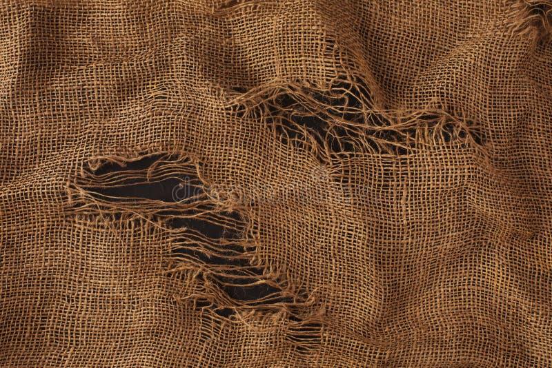 Textuur van de oude jute stock afbeelding