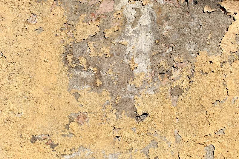 Textuur van de oude oppervlakte van de schil beige muur royalty-vrije stock afbeeldingen