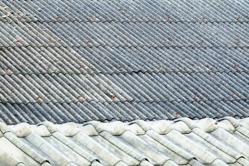 Textuur van de oude tegel van het cementdak stock foto