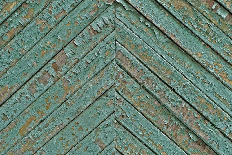 Textuur van de oude uitstekende houten die raad in cyaan wordt geschilderd royalty-vrije stock afbeelding