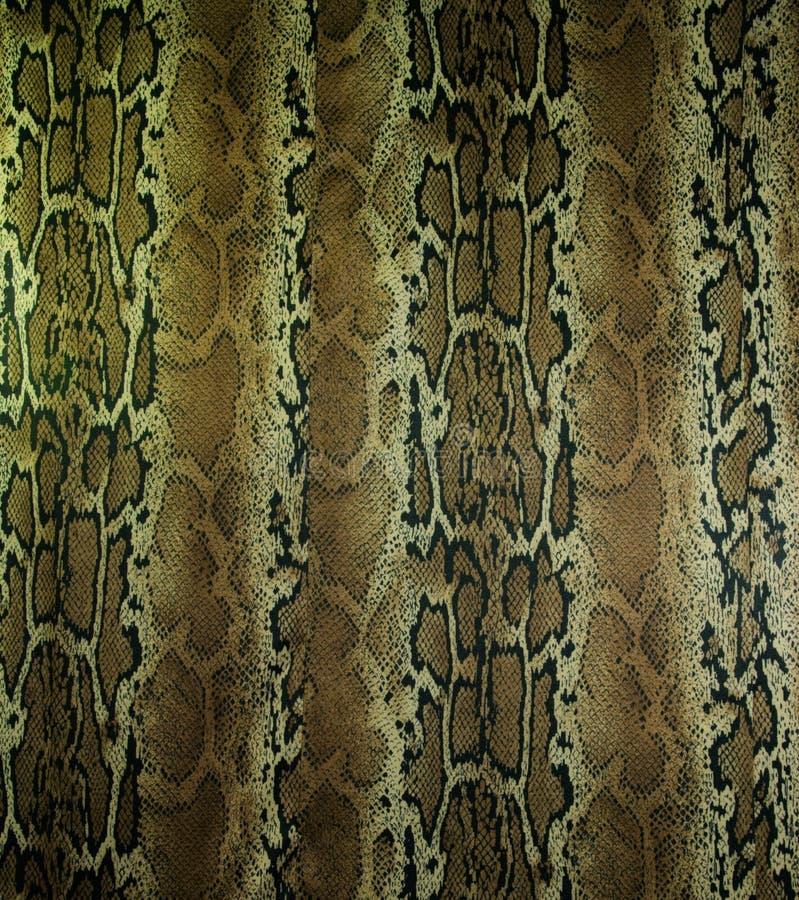 Textuur van de slangleer van stoffenstrepen voor achtergrond stock afbeeldingen
