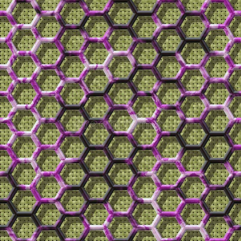 Textuur van de stoffen de naadloze geproduceerde huren van het draadnetwerk vector illustratie