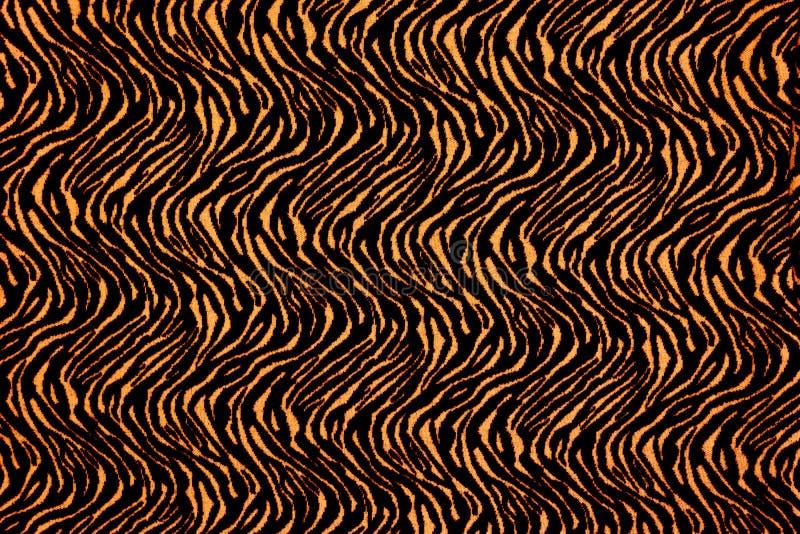 Textuur van de tijger van stoffenstrepen royalty-vrije stock foto's
