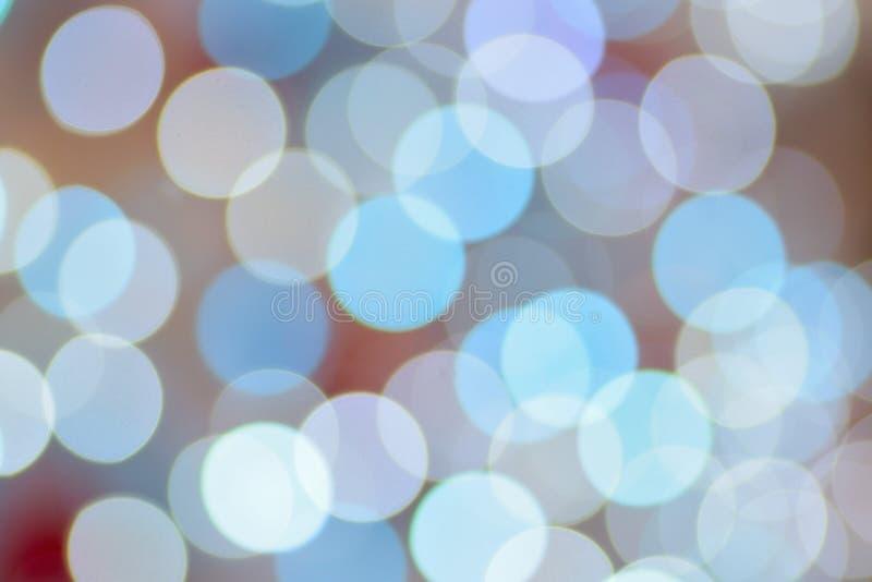 Textuur van van de verlichte blauwe LEIDENE de lichten Kerstmisdecoratie stock fotografie