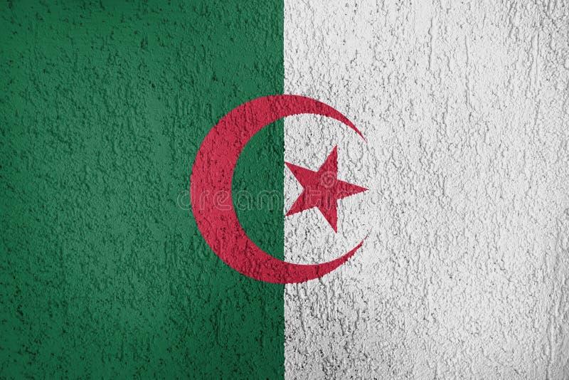 Textuur van de vlag van Algerije stock fotografie