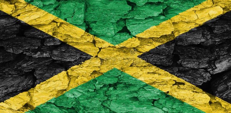 Textuur van de Vlag van Jamaïca stock afbeeldingen