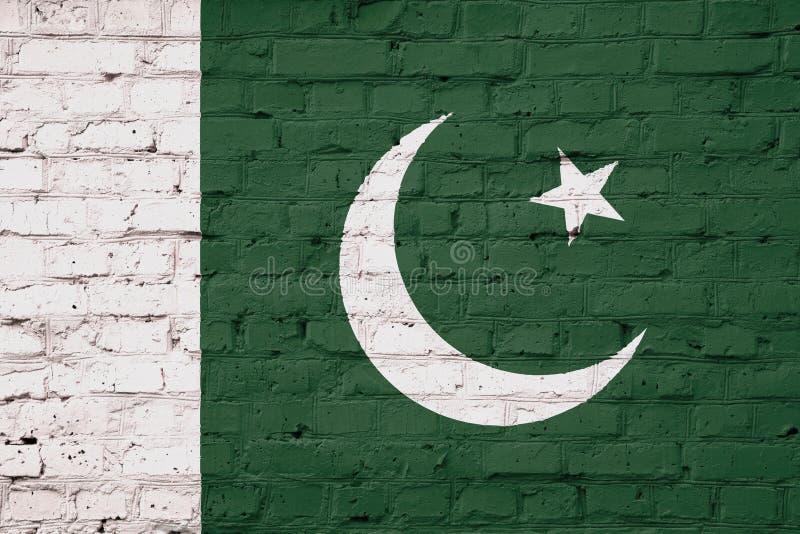 Textuur van de vlag van Pakistan stock foto's
