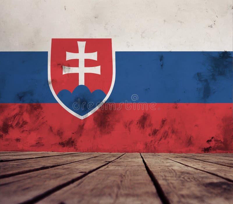Textuur van de vlag van Slowakije stock fotografie