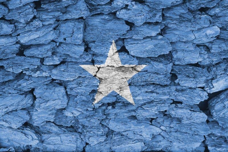Textuur van de vlag van Somalië stock afbeelding