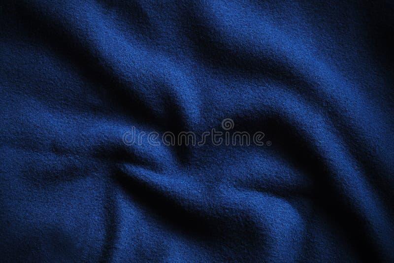 Textuur van diepe blauwe vacht royalty-vrije stock foto