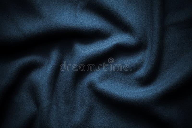 Textuur van diepe blauwe vacht royalty-vrije stock fotografie